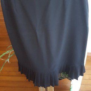 Black skirt pleated hem Emma James sz 12